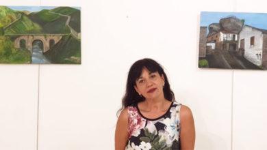 """Photo of Santa Leonor (Trives) acolle a exposición """"A miña terra"""" de Aurora Espina"""