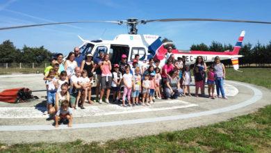Photo of O campamento urbano de San Xoán de Río visita a base de helicóptero