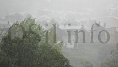 Photo of Alerta amarela para o domingo por tormenta e pedra en Valdeorras e na montaña ourensá