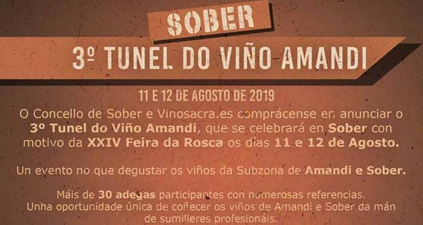 Photo of O III Túnel do Viño Amandi, 11 e 12 de agosto en Sober