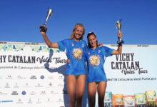 Photo of Vitoria ourensá no campionanto de Cataluña de volei praia