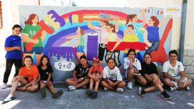 Photo of Obradoiro infantil de pintura mural pola igualdade de xénero en Rubiá