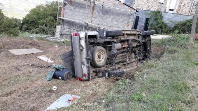 Photo of Saída de vía en Vales, no municipio do Barco de Valdeorras