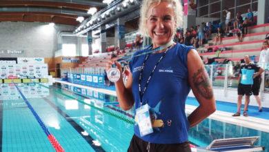 Photo of Cristina Colomo (Salvour), triple campioa de Europa e un récord de España en salvamento e socorrismo