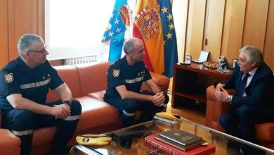 Photo of Reunión dos mandos do V Batallón de Intervención de Emerxencias da UME co subdelegado do Goberno en Ourense
