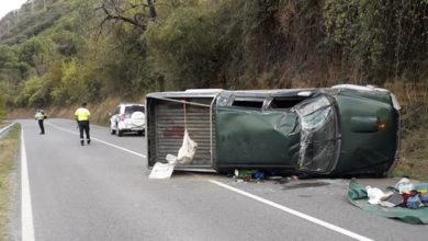 Photo of Unha persoa resulta ferida nun accidente de tráfico na estrada N-536 en Candís