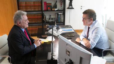 Photo of O alcalde de Quiroga reúnese co presidente da Xunta para pedir a D.O. para o aceite desta comarca lucense
