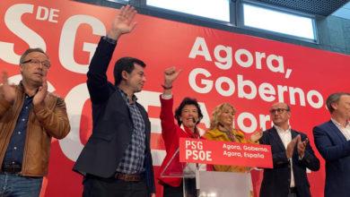 Photo of Caballero e a ministra Isabel Celáa, na Festa da Rosa en Ourense
