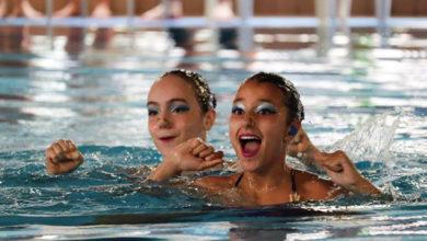 Photo of Dúas nadadoras do Sincro Ourense, no top 30 alevín da Real Federación Española de Natación