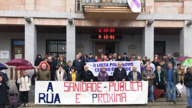 """Photo of A Rúa maniféstase diante do Concello polo """"novo Centro de Saúde e unha sanidade pública e próxima"""""""