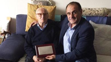 Photo of José Sánchez, veciño de Parada de Sil, festexa o seu centenario