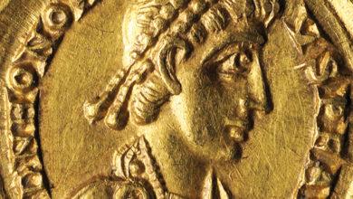 """Photo of Un """"solidus"""" de ouro de Honorio do castro Santomé, """"Peza do Mes"""" do Museo Arqueolóxico de Ourense"""