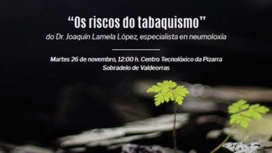 Photo of O neumólogo Joaquín Lamela López impartirá unha conferencia en Sobradelo sobre os riscos do tabaquismo