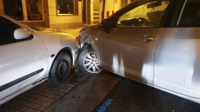 Photo of Accidente de tráfico de madrugada no centro do Barco