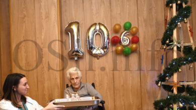 Photo of Lucía Blanco celebra o seu 106 aniversario na residencia Nosa Señora de Fátima do Barco