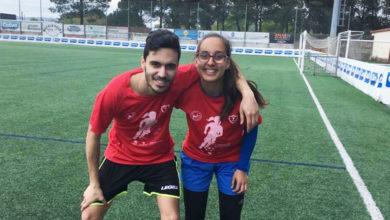 Photo of A adestradora valdeorresa Isabel Vázquez, na II edición do Campus Tec Fem de fútbol en Carballo (A Coruña)