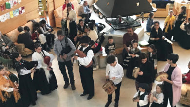 Photo of Concerto do grupo de pandeiretas, percusión e baile da Rebusca na residencia de Manzaneda