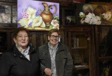 Photo of A pintura da veciñanza de Córgomo, na Sala Conde e Torino desta localidade