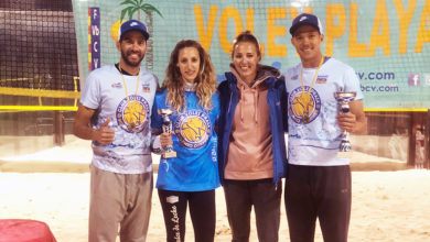 Photo of Unha prata e un bronce para o Club Volei Praia Milenio Ourense no nacional de inverno