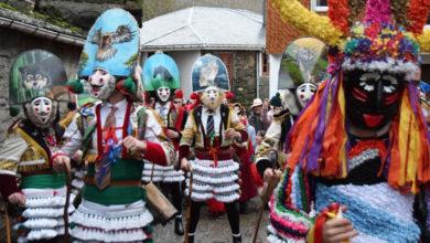 Photo of As máscaras de diversos Entroidos ourensáns e o fulión vianés toman Campobecerros