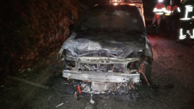 Photo of Arde un coche en Santa Cruz (O Bolo)