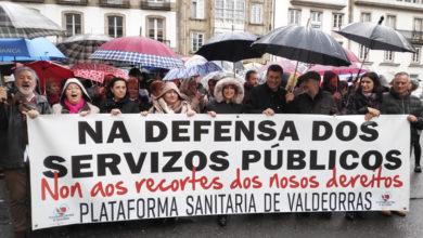 Photo of A Plataforma Sanitaria de Valdeorras, na manifestación en Santiago en defensa da sanidade pública