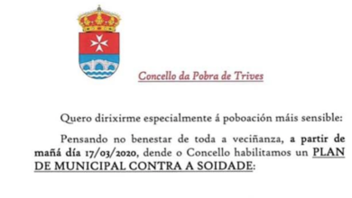 Photo of O Concello de Trives activará un Plan municipal contra a soidade