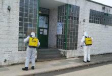 Photo of Labores de limpeza e desinfección en espazos públicos de Quiroga e Ribas de Sil