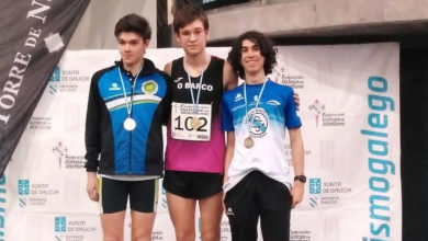 Photo of O Adas colleita tres medallas no campionato galego de pista cuberta Sub16 e Sub20