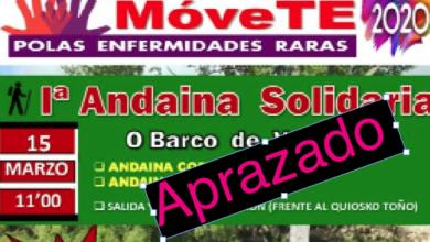 Photo of Suspéndese I Andaina Solidaria Móvete polas Enfermidades Raras no Barco