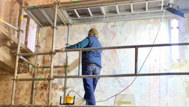 Photo of Xornada de portas abertas para coñecer a restauración das pinturas murais da igrexa de San Vicente de Pinol (Sober)