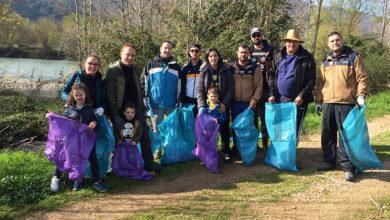 Photo of O Club Spinning Valdeorras leva a cabo unha limpeza de plásticos no río Sil