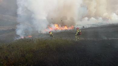 Photo of Controlado o incendio de San Vicente (Vilamartín), tras queimar 24 hectáreas