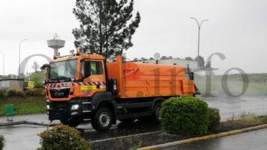 Photo of O Ministerio de Transportes colabora con concellos ourensáns na desinfección de polígonos industriais