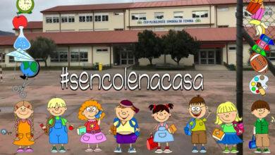 Photo of Os alumnos de 1º A de Primaria do CEIP Condesa de Fenosa do Barco envían unha mensaxe de agradecemento á súa profesora