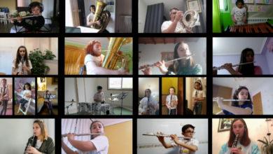 """Photo of Alumnos e profesores da Escola de Música de Sober interpretan dende a casa o """"Himno da Alegría"""""""