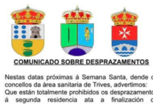 Photo of Río, Manzaneda e Trives lembran a prohibición de desprazarse á segunda residencia na Semana Santa e as sancións