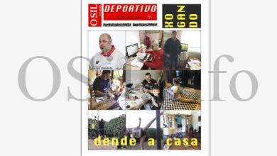 """Photo of O xogo """"dende a casa"""", na edición de abril de O Sil Deportivo"""