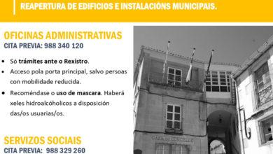 Photo of O Concello de Viana anuncia a reapertura de oficinas e instalacións municipais