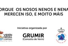 Photo of Grumir e Protección Civil de Verín felicitaron o aniversario de medio cento de nenos na corentena