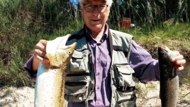 Photo of Unha troita de 3,5 kg, pescada no encoro de Prada (A Veiga)