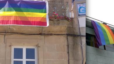 Photo of A bandeira multicor, nos balcóns dos Concellos de Viana e do Barco