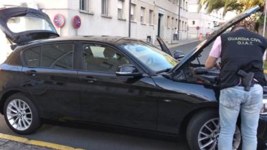 Photo of A Garda Civil de Ourense intervén un vehículo roubado en Portugal
