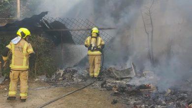 Photo of Dous incendios en San Cibrao das Viñas