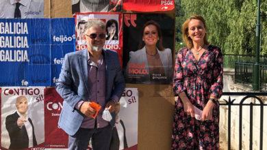 Photo of Marea Galeguista visita O Barco nun acto de campaña electoral
