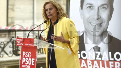 Photo of Mitin do PSdG en Trives coa presenza de Carmela Silva, presidenta da Deputación de Pontevedra.