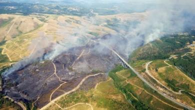 Photo of A superficie afectada polo incendio de Queirugás (Verín) chega ás 160 hectáreas