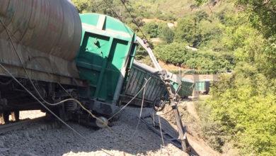 Photo of O descarrilamento dun tren de mercadorías en Sobradelo corta a liña Monforte-Ponferrada