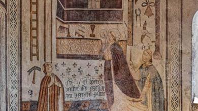 Photo of Xornada de portas abertas para ver as pinturas da Igrexa de Pinol (Sober)