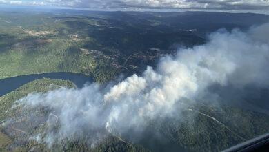 Photo of Extinguido o incendio de Crecente (Pontevedra) que afecta tamén a Cortegada